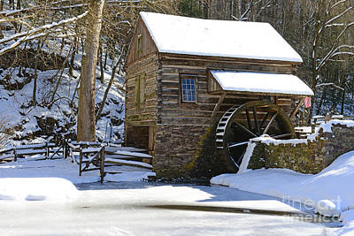 Country Snow Photograph - Winter Mill by Paul Ward