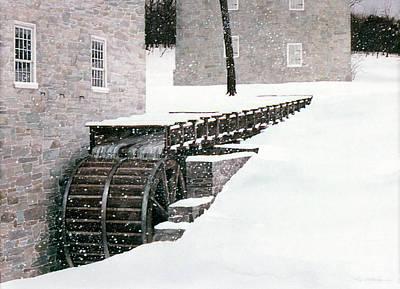 Painting - Winter Mill by Tom Wooldridge