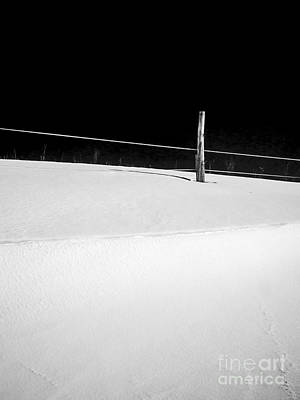 Snow Drifts Photograph - Winter Minimalism Black And White by Edward Fielding