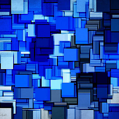 Rectangle Digital Art - Winter Modern Abstract Xix by Lourry Legarde