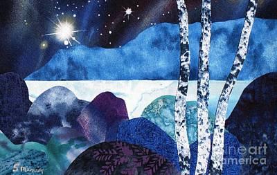 Winter Moon 2 Art Print by Susan Minier