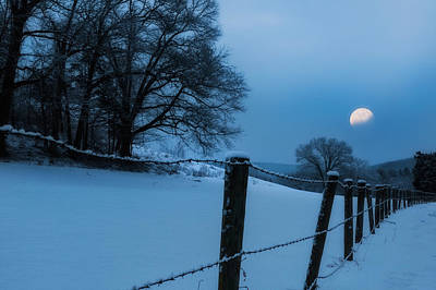 Winter Night Photograph - Winter Moon by Bill Wakeley