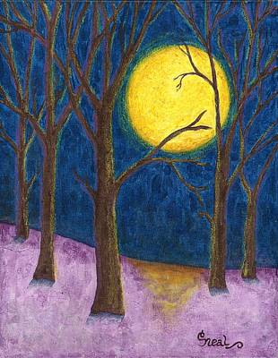 Painting - Winter Moon by Carol Neal