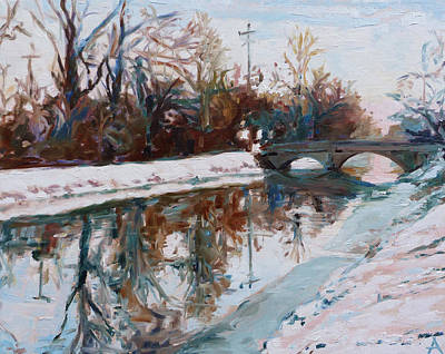 Indiana Rivers Painting - Winter Morning by Azhir Fine Art
