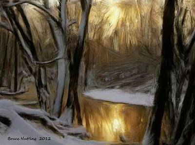 Painting - Winter Morning At The Creek by Bruce Nutting
