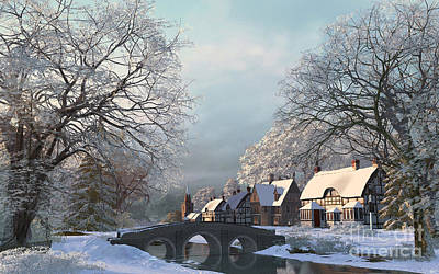 Winter Morning Art Print by Dominic Davison