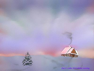 Digital Art - Winter Morning by Dr Loifer Vladimir