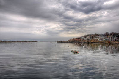 Row Boat Photograph - Winter Morning On Rockport Harbor by Joann Vitali