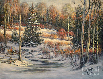 Canadiens Painting - Winter Morning by Pierre Morin