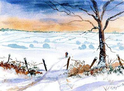 Snowscape Painting - Winter Morning by Susan Ryder