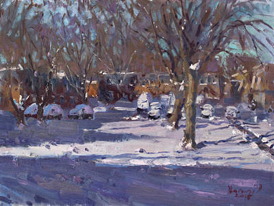 Ny Painting - Winter Morning by Ylli Haruni