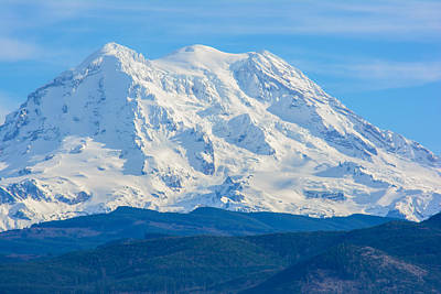 Photograph - Winter Mount Rainier by Tikvah's Hope
