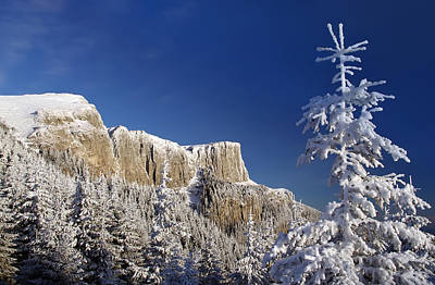 Winter Mountain Landscape Art Print by Ioan Panaite