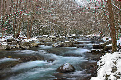 Photograph - Winter Mountain Stream by Shari Jardina