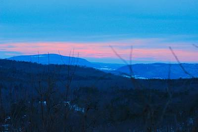 Photograph - Winter Mountain Sunset by Edward Hamilton