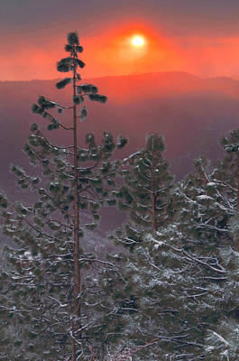 Photograph - Winter Mountain Sunset by Stephen  Vecchiotti