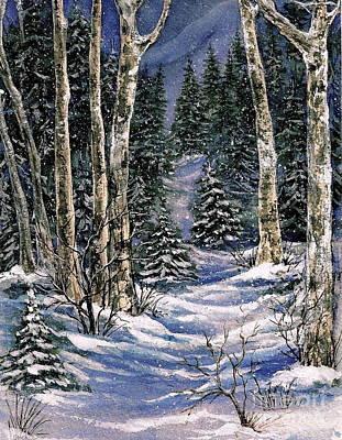 Christmas Holiday Scenery Painting - Winter by Nadia Galinkin