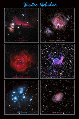 Photograph - Winter Nebulae by Alan Vance Ley