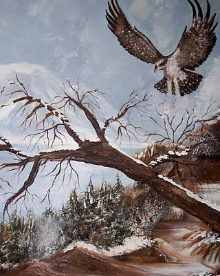 Winter Nesting Art Print by Martha Mullins