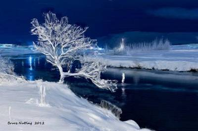 Painting - Winter Night by Bruce Nutting
