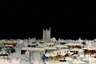 Church Photograph - Winter Night by Bishopston Fine Art