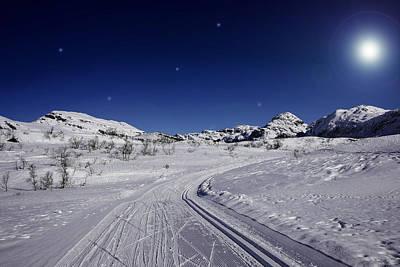 Winter Wonderland Photograph - Winter Night Scene by Gry Thunes