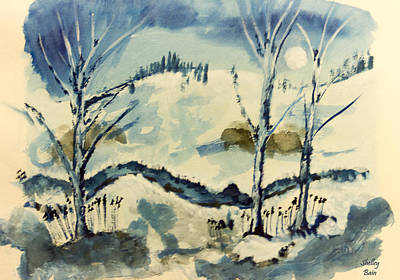 Painting - Winter Night by Shelley Bain