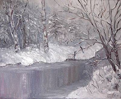 Painting - Winter by Nina Mitkova