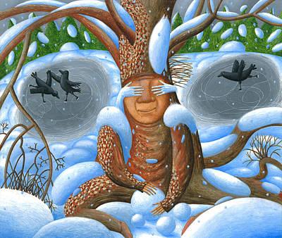 Winter. Nook Art Print by Tatyana Myasnikova