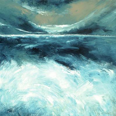 Winter Norfolk Sea Art Print by Stuart Roy