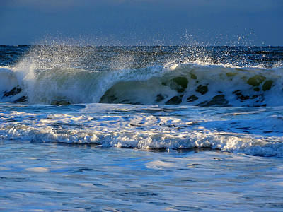 Winter Ocean At Nauset Light Beach Art Print