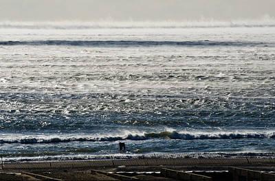 Winter Ocean Rockaway Beach Art Print by Maureen E Ritter