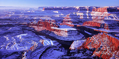 Winter Of Dead Horse Point Art Print