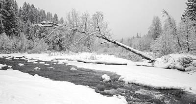 Leaden Sky Photograph - Winter On Grouse Creek by Randolph Fritz