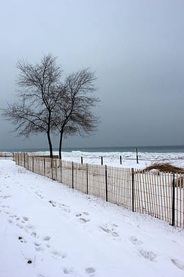 Photograph - Winter On Lake Huron 2 by Mary Bedy