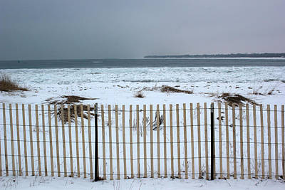 Photograph - Winter On Lake Huron 3 by Mary Bedy