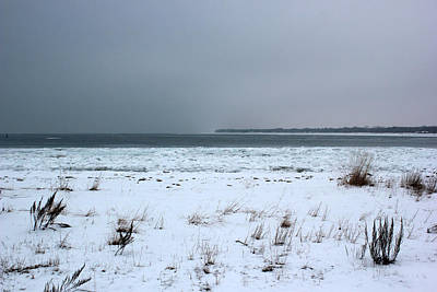 Photograph - Winter On Lake Huron by Mary Bedy