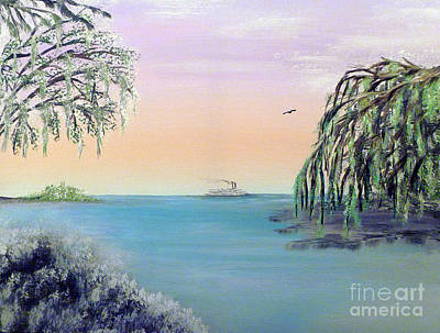 Winter On Lake Ponchartrain Art Print by Alys Caviness-Gober