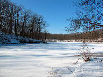 Photograph - Winter On Sauk Lake 1 by Cedric Hampton