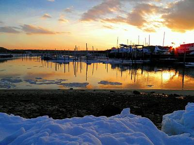 Photograph - Winter On Sesuit Harbor by Amazing Jules