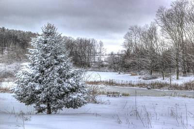 Elmira Ny Photograph - Winter On Tanglewood Pond by Laurie Cybulak