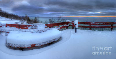 Snow Fall Photograph - Winter On The Arcadia Overlook by Twenty Two North Photography