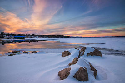 Photograph - Winter View Of The Causeway by Darylann Leonard Photography