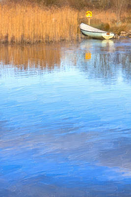 Photograph - Winter On The Corrib In Galway by Mark Tisdale