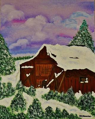 Art Print featuring the painting Winter On The Farm by Celeste Manning