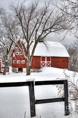 Photograph - Winter On The Farm by Deborah Smolinske