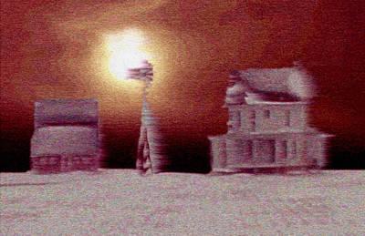 Raising Mixed Media - Winter On The Farm by Dennis Buckman