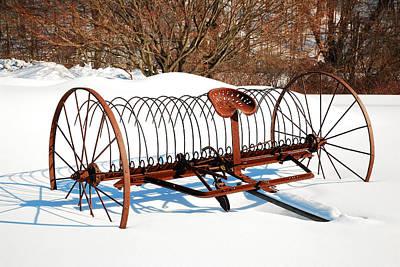Winter On The Farm Art Print by James Kirkikis