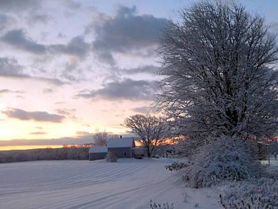 Kingston On Photograph - Winter On The Farm by Karen Cook