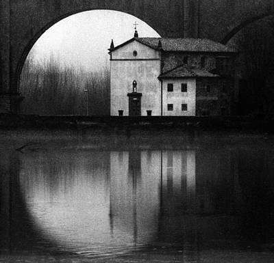 Crosses Photograph - Winter On The Lake by Franco Maffei